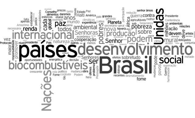 Nuvem de palavras - Lula (2007)