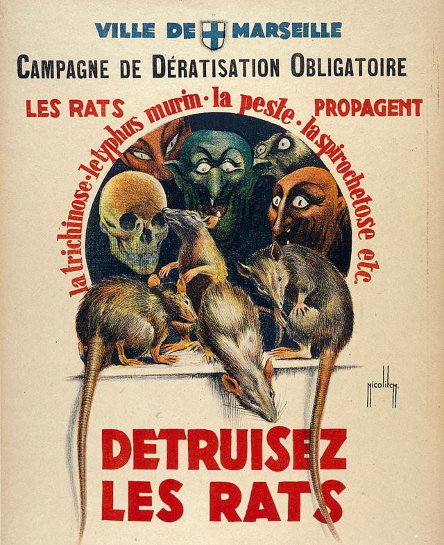 Póster de la guerra contra las ratas