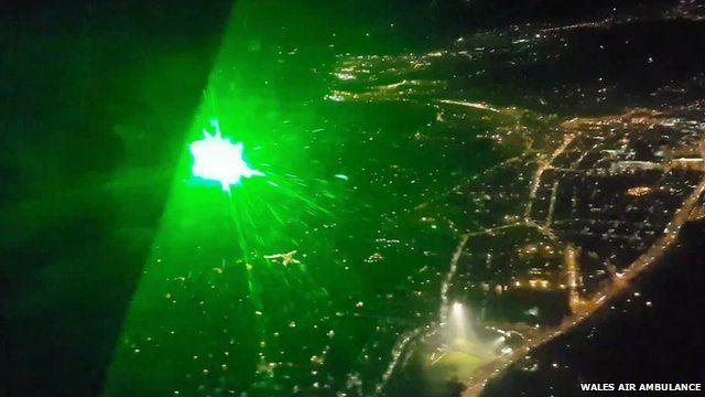 Laser light aimed at cockpit