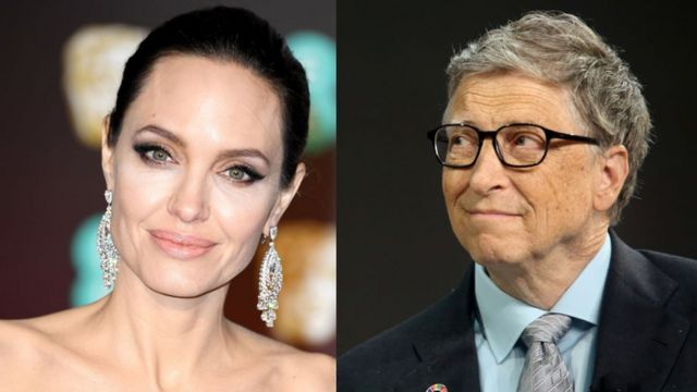 Angelina Jolie y Bill Gates
