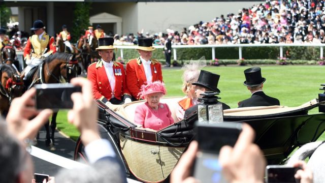 The Queen at Royal Ascot in 2019