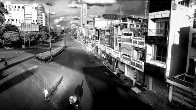 Sài Gòn vắng lặng những ngày phong tỏa