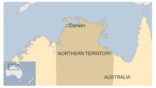 ダーウィン(Darwin)の位置