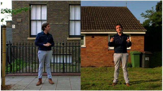 The scheme involves selling both London properties worth £3m (left) and cheaper two-bedroom bungalows in places such as Nuneaton (right).