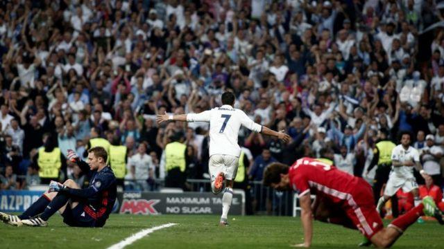 Ronaldo proslavlja jedan od golova protiv Bajerna