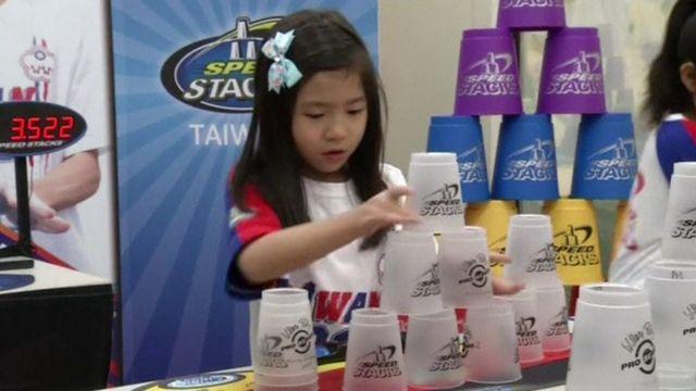Taiwan speed stacking team member