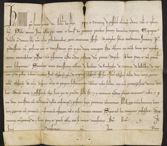 Papal Bull: 'Oldest public document' in NI marks links to Scotland