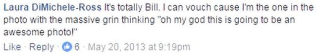 """Message reading """"It's definitely Bill"""""""