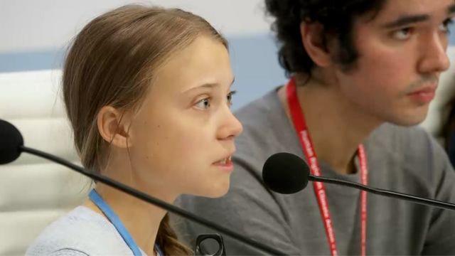 Грета Тунберг и Аршак Макичян на конференции ООН