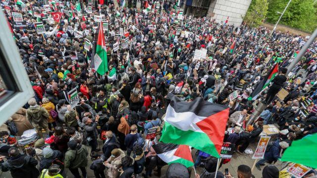 تجمع شنبه پانزدهم مه در لندن در حمایت از مردم فلسطین