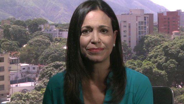 Maria Corina Machado. Venezuelan opposition leader