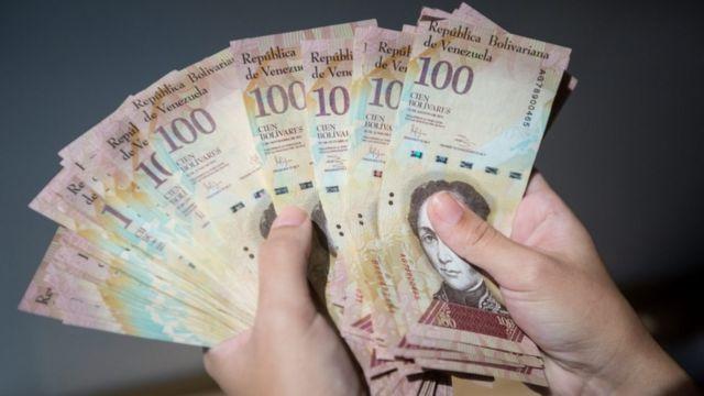 ورقة نقدية من فئة 100 بوليفار