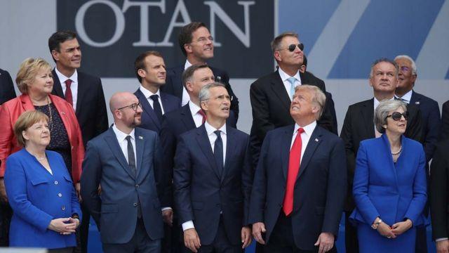 NATO zirvesi aile fotoğrafı