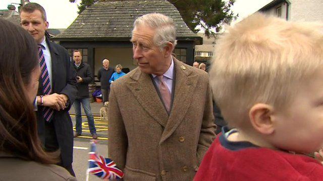 Prince Charles in Pooley Bridge