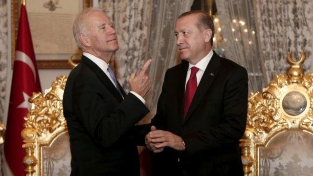 Biden ve Erdoğan'ın 2016'da İstanbul'daki bir görüşmesinden