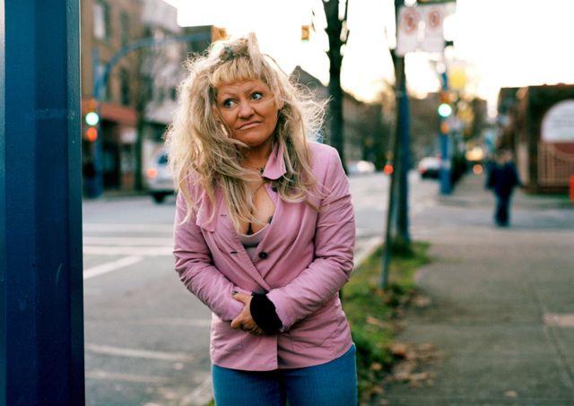 Christine, uma das participantes do projeto 'Remember Me' de Carly Clarke em Vancouver