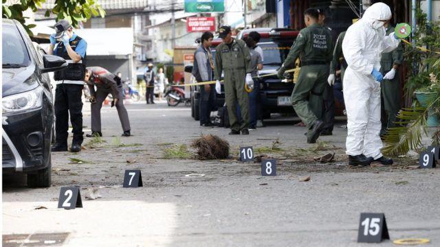 Взрыв в Хуахине, Таиланд