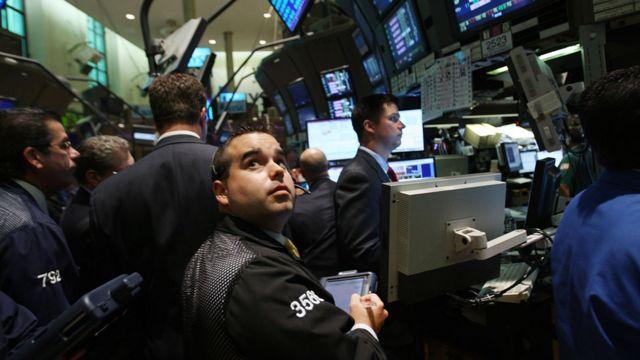 金融危机时的华尔街。
