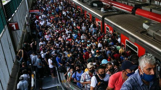 Estação de trem em São Paulo
