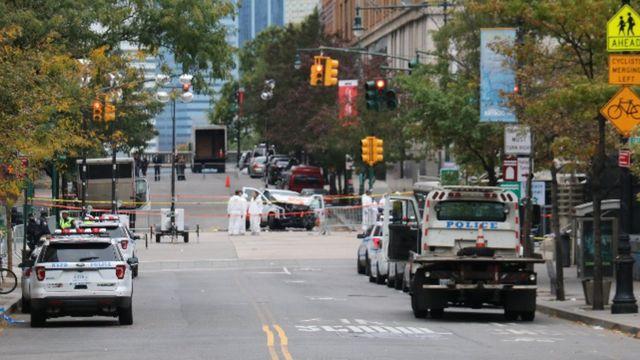 La escena del crimen en Nueva York