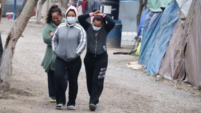 Solicitantes de asilo en Matamoros, México