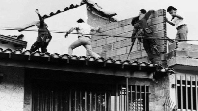 Operativo de captura de Escobar en 1993.