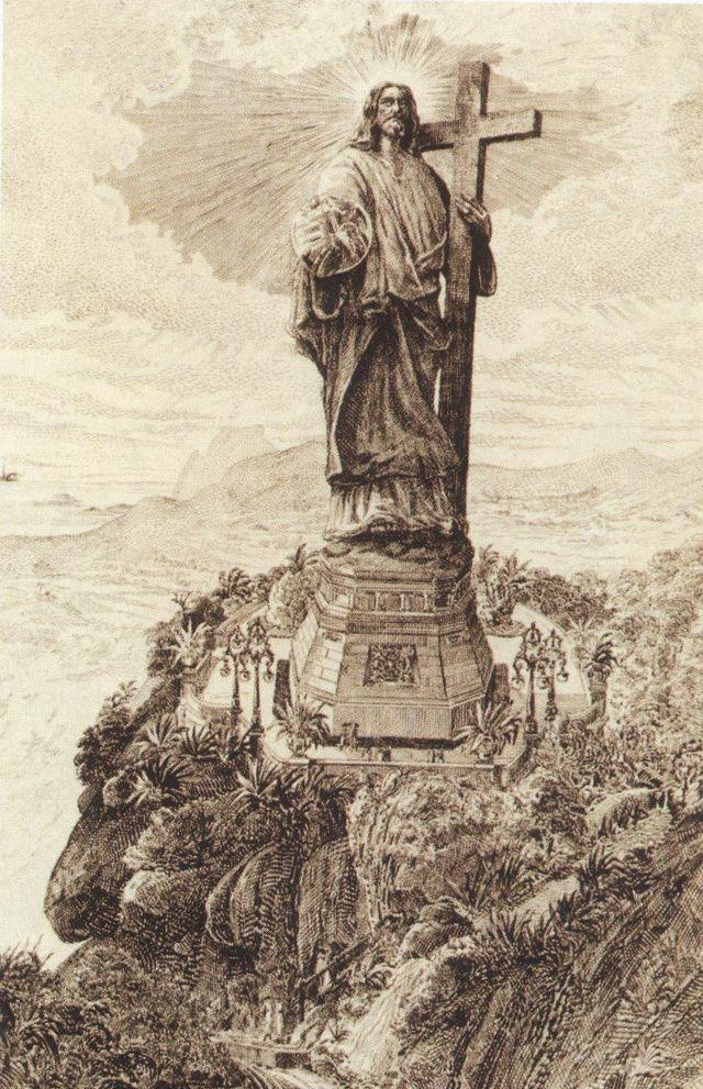 Desenho do 'Cristo da Bola'