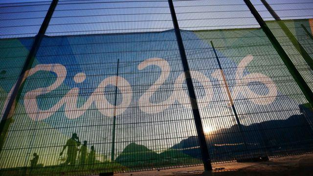 Cerca ao redor do Parque Olímpico na Barra da Tijuca