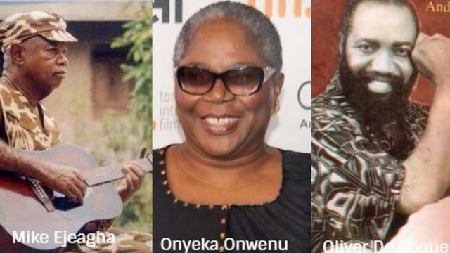 Mike Ejeagha,Onyeka Onwenu na Oliver De Coque