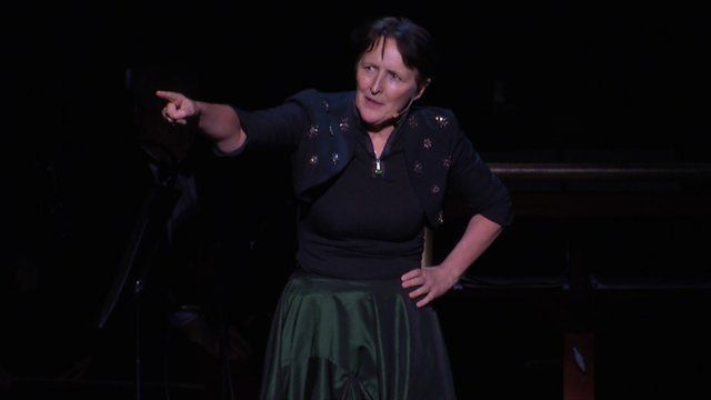 Actress Fiona Shaw performing at The Kennedy Center in Washington DC