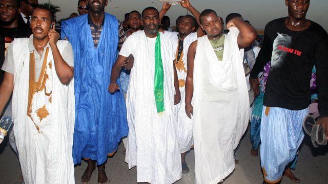 Birame Ould Abeid, président de l'ONG IRA lors de sa libération de prison le 3 septembre 2013 à Nouakchott