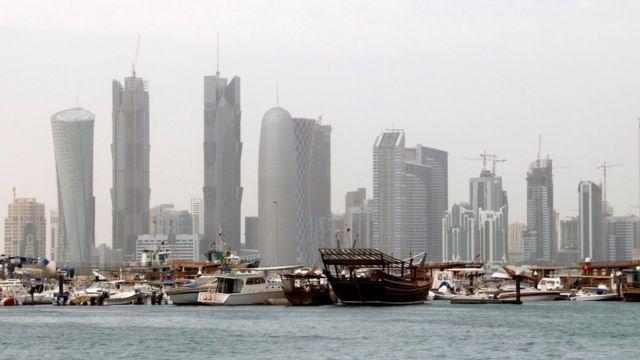 Vista de Doha, capital de Qatar