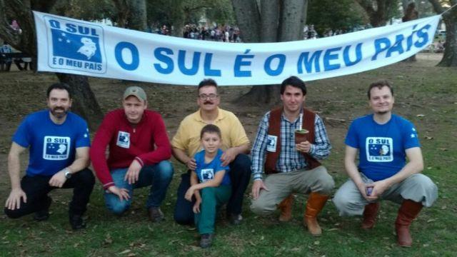 Integrantes do movimento separatista do Sul