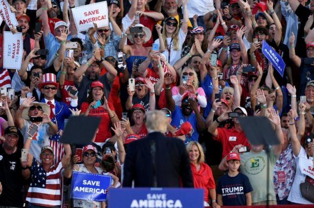 Первый митинг Трампа в качестве экс-президента (Веллингтон, Огайо)