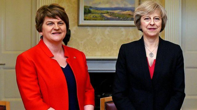 Arlene Foster and Theresa May