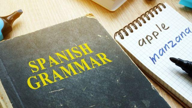 Libro de gramática española,
