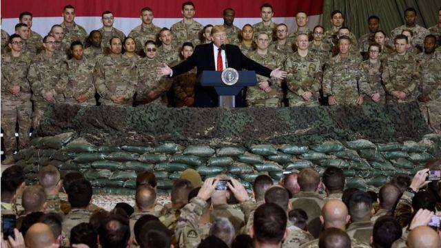 Трамп на военной базе в Афганистане