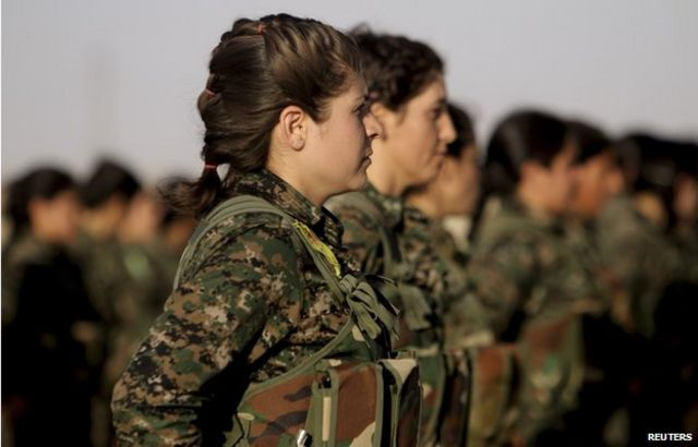 Mulheres combatentes curdas