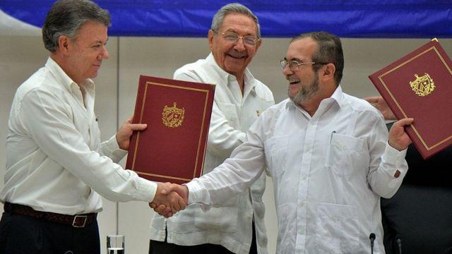 Shugaban Colombia Juan Manuel Santos da shugaban Farc
