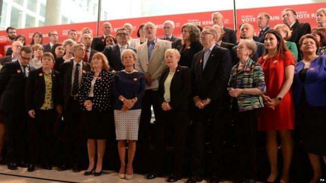El gabinete en la sombra del partido Laborista