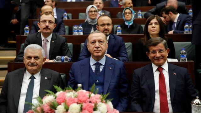Türkiye'nin son üç başbakanı: Recep Tayyip Erdoğan, Ahmet Davutoğlu ve Binali Yıldırım