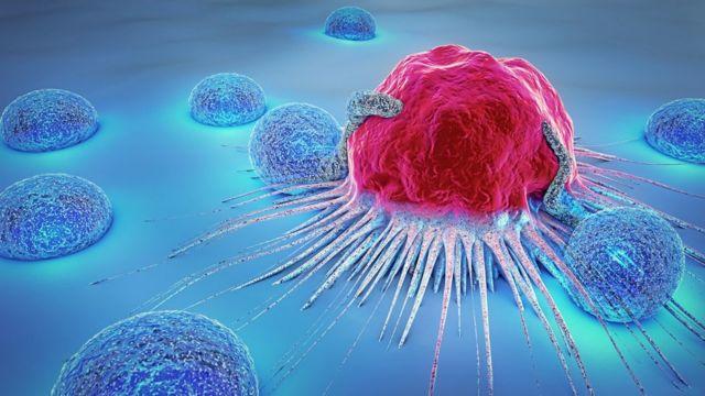 Ilustração de célula cancerígena