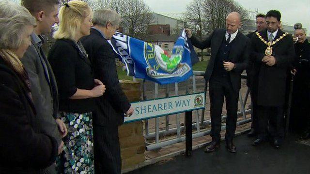 Alan Shearer unveils Alan Shearer Way
