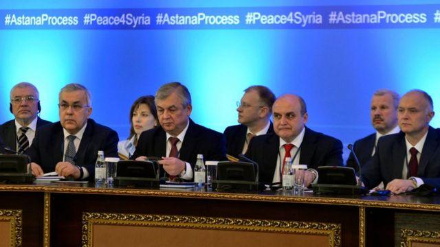 الوفد الروسي إلى محادثات أستانة حول سوريا