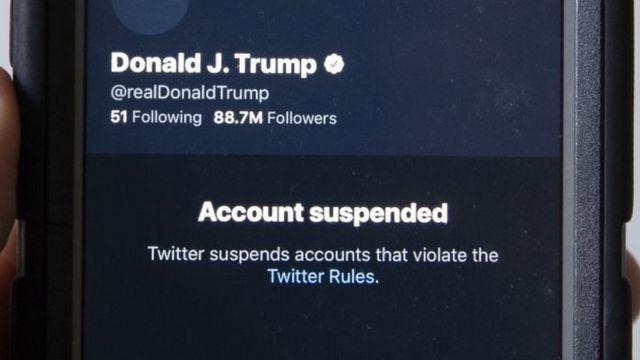 特朗普总统的推特账户被取消