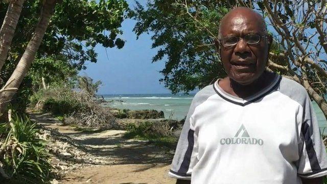 John Kalmatak on Nguna island, Vanuatu