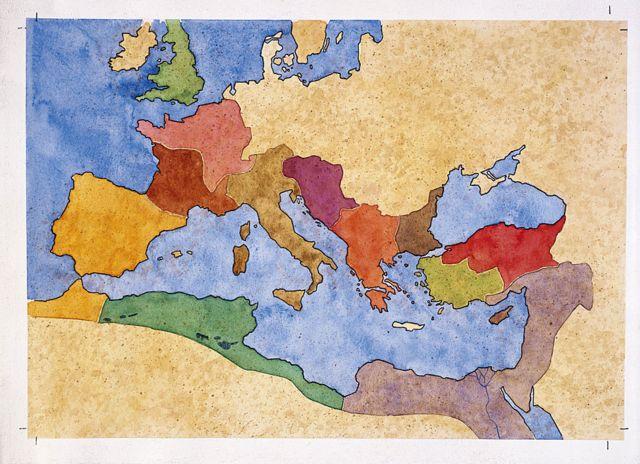 Mapa de la extensión del Imperio romano