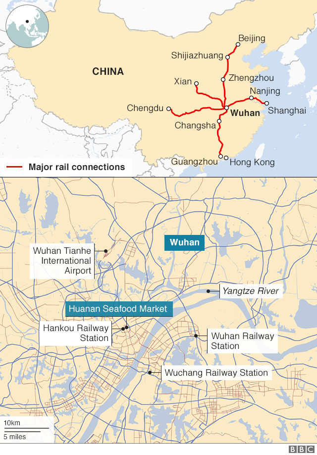 Map of Wuhan transport