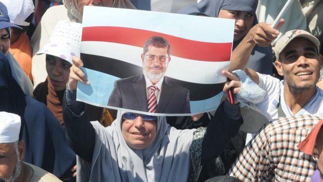 مظاهرة لأنصار الرئيس المصري السابق محمد مرسي