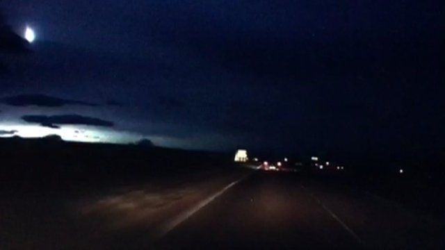 Suspected meteor sighting